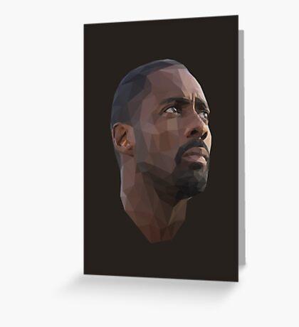 Idris Elba Low-Poly Greeting Card