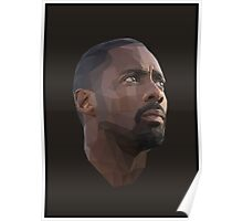 Idris Elba Low-Poly Poster