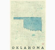 Oklahoma State Map Blue Vintage Unisex T-Shirt