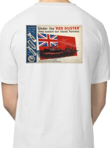 WAR POSTER, Red Duster, Red Ensign, UK, GB, Royal Merchant Navy, WWII, Poster Classic T-Shirt