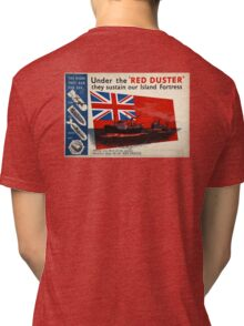 WAR POSTER, Red Duster, Red Ensign, UK, GB, Royal Merchant Navy, WWII, Poster Tri-blend T-Shirt