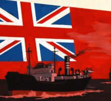 WAR POSTER, Red Duster, Red Ensign, UK, GB, Royal Merchant Navy, WWII, Poster Sticker