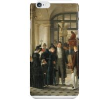 RAYMOND AUGUSTE QUINSAC MONVOISIN; THE PRINCE DE JOINVILLE LEAVING FOR THE MARINE iPhone Case/Skin