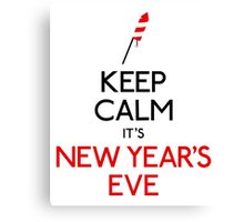 Keep calm it's new year's eve Canvas Print