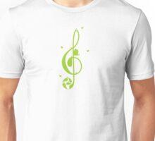 Treble clef and birds Unisex T-Shirt