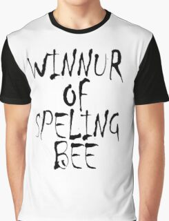 Clever, Smart, Education, Learning, Spelling, WINNUR OF SPELING BEE,  Graphic T-Shirt