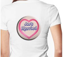 Love Heart, Sweet, Just Married, Marriage, Married, Wedding, Wed, Hen Night Womens Fitted T-Shirt