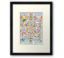 1103 - Grey Circles and some Colors Framed Print