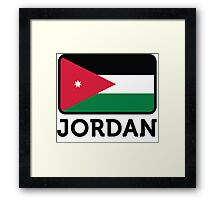 National flag of Jordan Framed Print