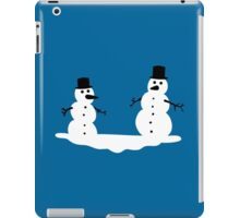 Two frosty snowmen iPad Case/Skin