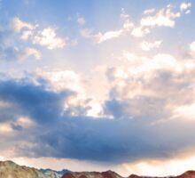 Rainbow Mountains at Sunset Sticker