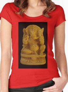 Little Ganesh Women's Fitted Scoop T-Shirt