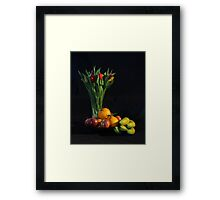 Fruit and Flowers Framed Print