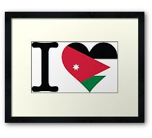 I love Jordan Framed Print
