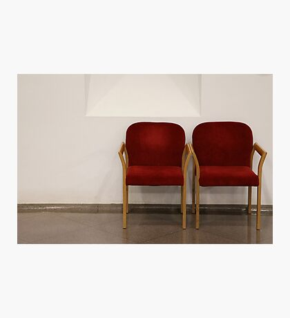 Red Chairs Photographic Print