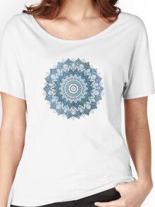 BOHOCHIC MANDALA IN BLUE T-shirt femme coupe relax
