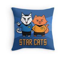 Star Cats Throw Pillow