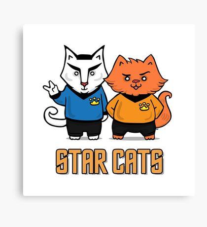 Star Cats Canvas Print