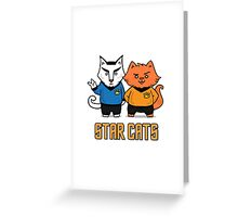 Star Cats Greeting Card