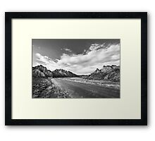 The Deserted Road of the Desert Framed Print