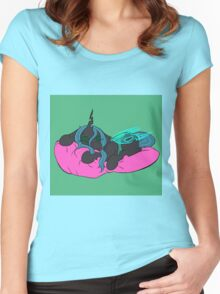 Filly Chrysalis: Pillow Love Women's Fitted Scoop T-Shirt