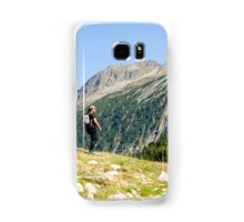 Female hiker in Zillertal alps, Tirol, Austria Model release available  Samsung Galaxy Case/Skin