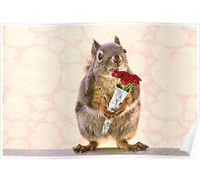 Valentines Day Squirrel Poster