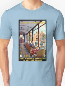 Rome Italy Interior luxury tourist tram Italian travel Unisex T-Shirt