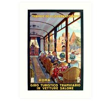 Rome Italy Interior luxury tourist tram Italian travel Art Print