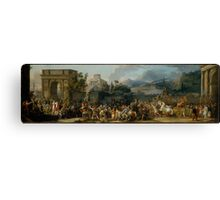 The Triumph of Aemilius Paulus by Carle (Antoine Charles Horace) Vernet Canvas Print