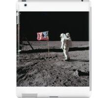 U.S. Astronaut Buzz Aldrin saluting the flag of the United States on the Moon, during Apollo 11 EVA activity. iPad Case/Skin