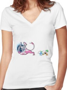MIENSHAO & WINGULL TAG TEAM Women's Fitted V-Neck T-Shirt