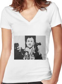 Robert DeNiro Taxi Driver Women's Fitted V-Neck T-Shirt