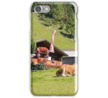 Remote alpine farmhouse photographed in Tirol, Austria  iPhone Case/Skin