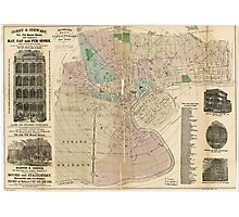 Holbrook's Map of Newark New Jersey (1875) Photographic Print