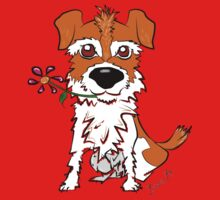 JACK RUSSELL PUPPY DOG CIAKY ROCK Kids Tee