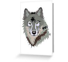 Sly Grey Wolf Greeting Card