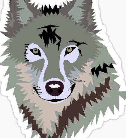Sly Grey Wolf Sticker