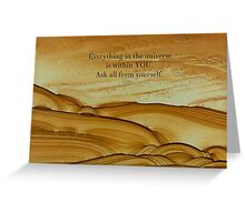 Rumi inspirational SPIRITUAL quote Greeting Card