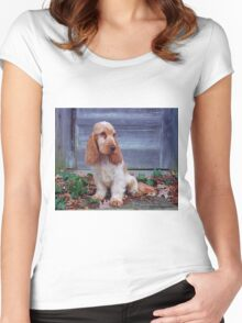 English Cocker Spaniel Women's Fitted Scoop T-Shirt