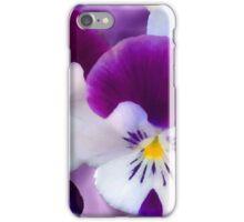 Purple Pansies iPhone Case/Skin