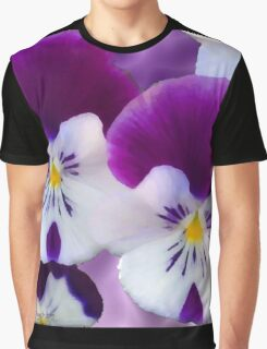 Purple Pansies Graphic T-Shirt