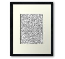 Black and white Sackcloth texture Framed Print