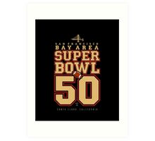 Super Bowl 50  Art Print