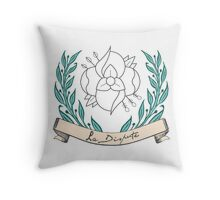 La Dispute Wreath Throw Pillow
