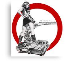 Demolition Derby Girl Canvas Print