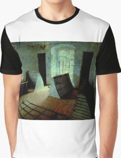 Old Wooden Shutters Stored Indoors..Abandoned House Graphic T-Shirt