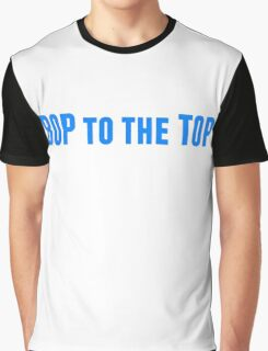 Bop to the Top in blue Graphic T-Shirt