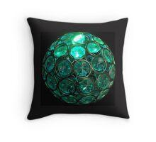 Crystal Aqua Throw Pillow
