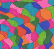 Waves of Color Sticker